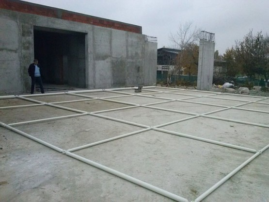 Assembly process for space frames in Crangas, Bucharest