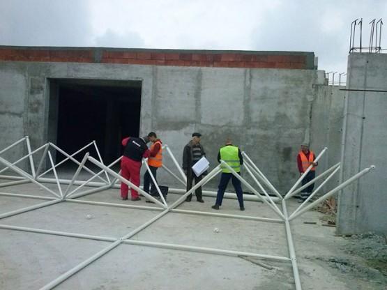 On-site assembly process