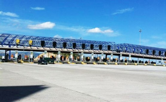 Elefsina toll station space frame structure by Nilka System