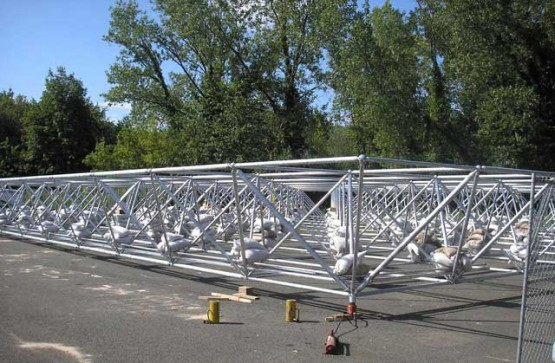 Space frame load test on site for client
