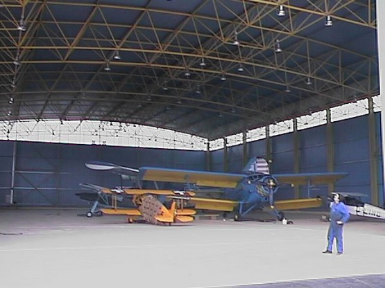 Space frame hangar for private owner
